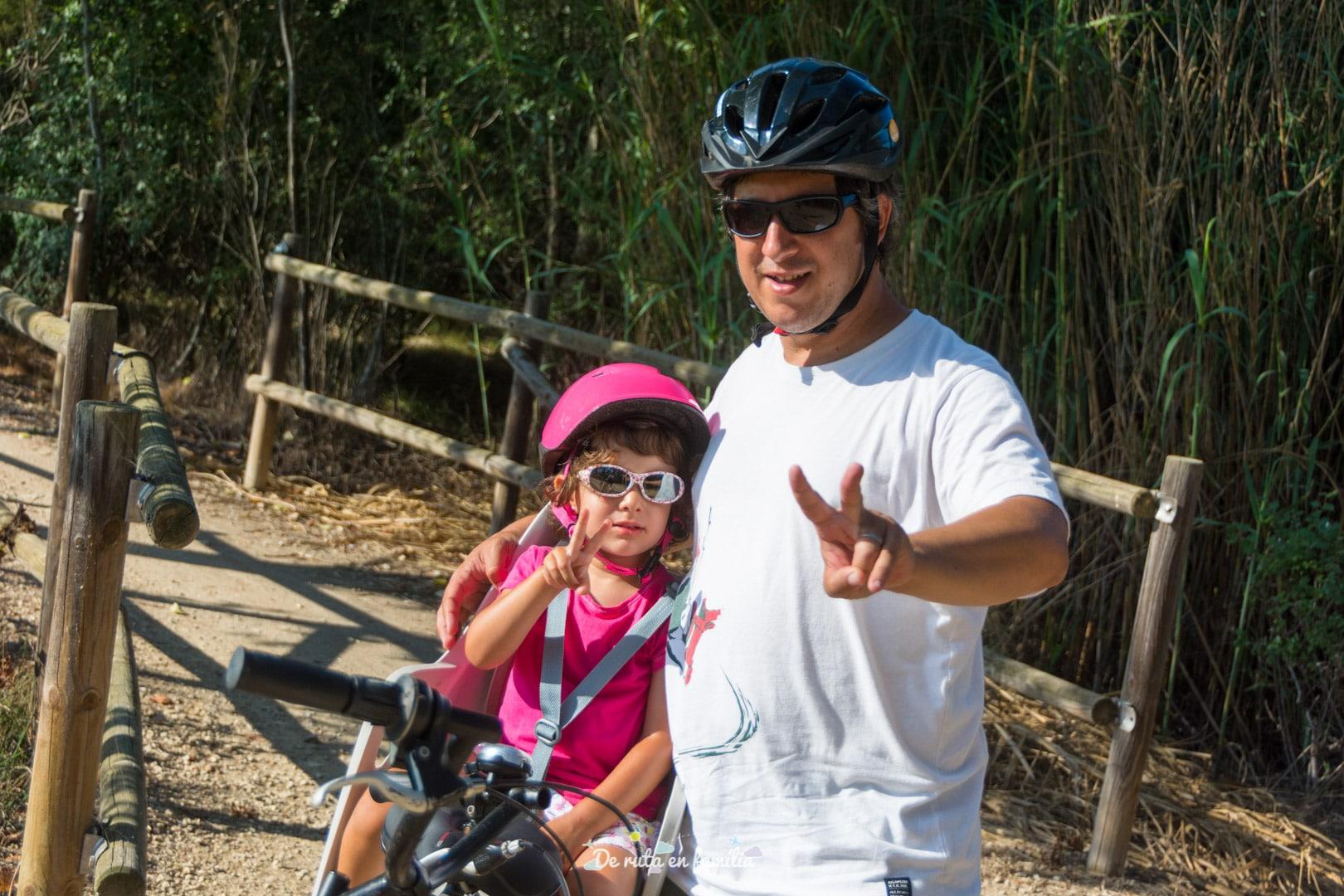 delta de l'ebre amb nens amb bicicleta