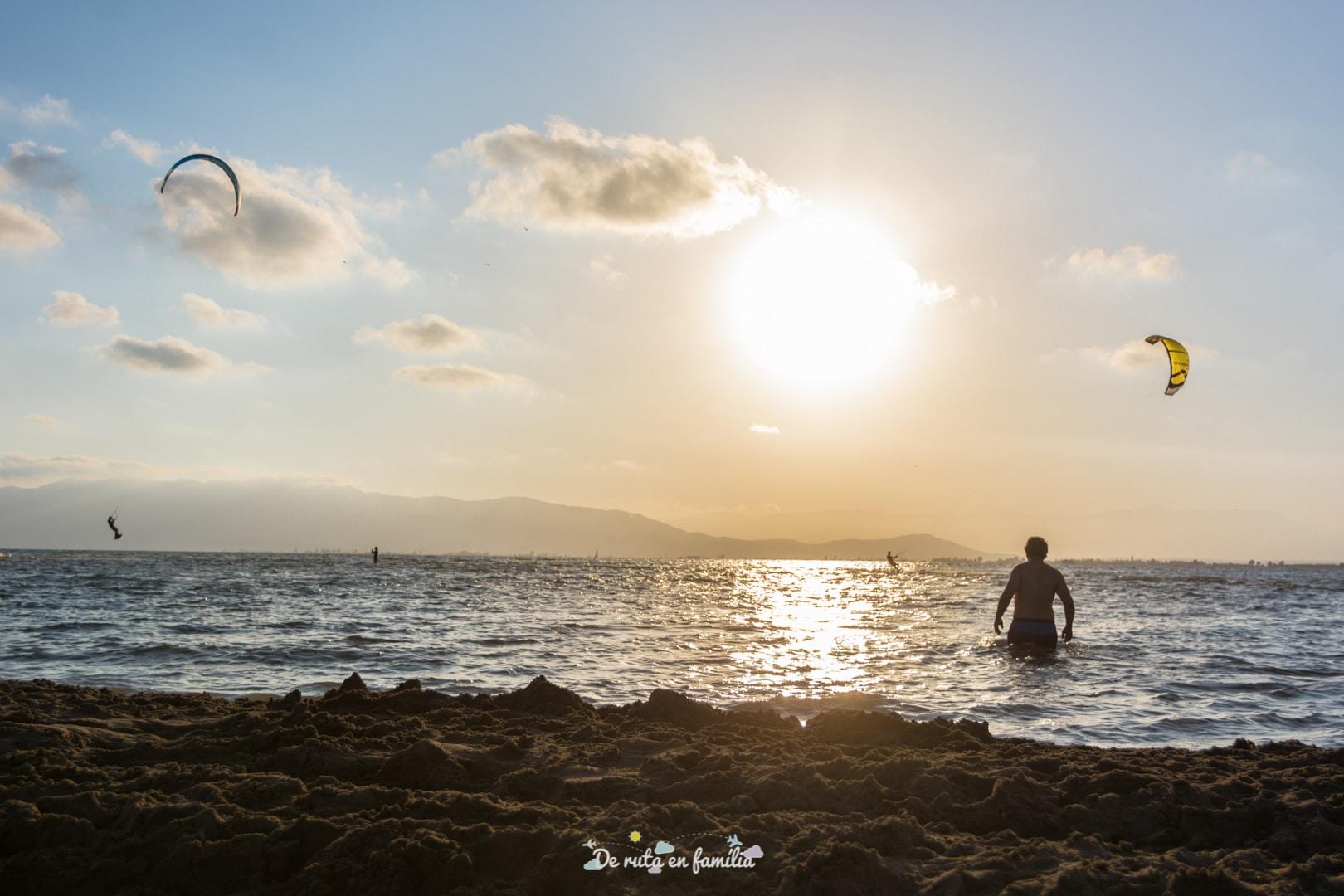 delta de l'ebre amb nens platja del trabucador