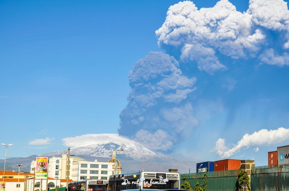 erupció de l'etna