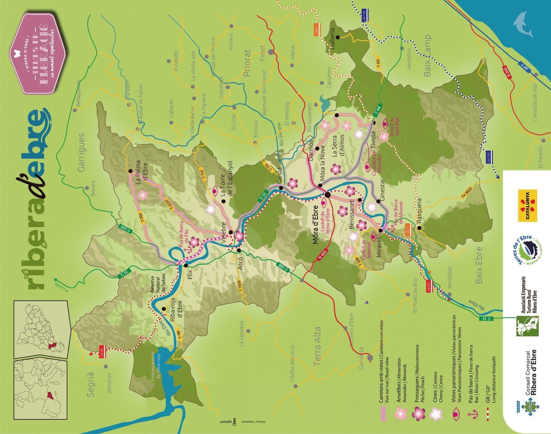 mapa floracion ribera ebre