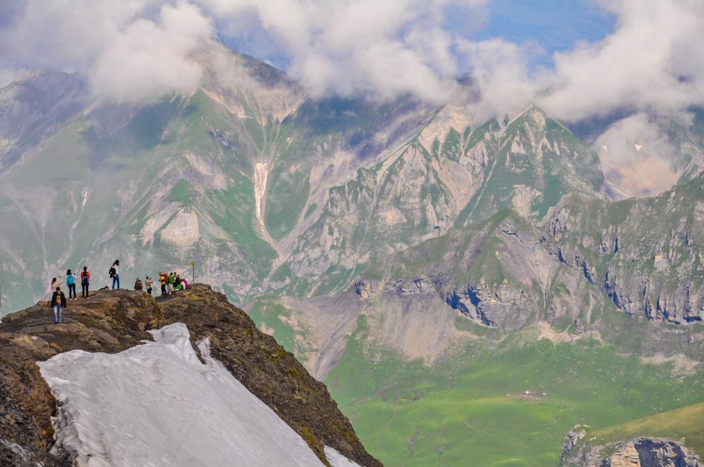 Ascens amb telefèric a la muntanya Schilthorn de Suïssa